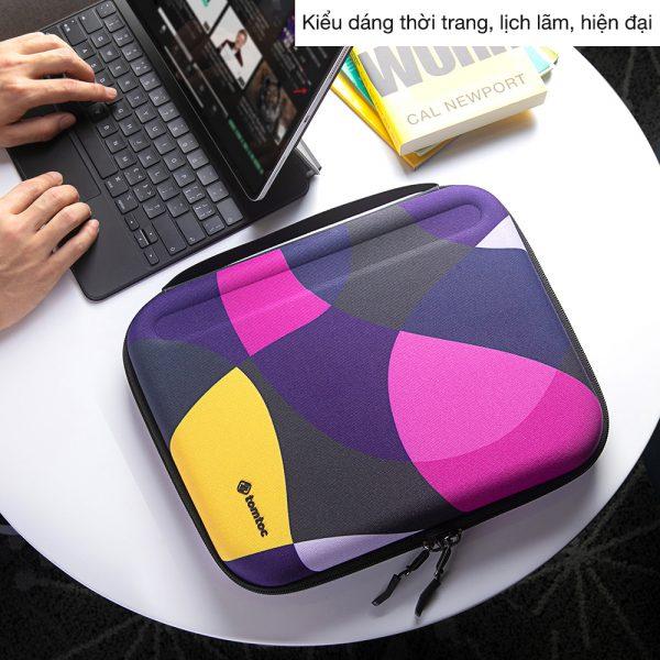 tui chong soc ipad tomtoc a06 mixed purple
