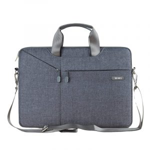 Túi đeo laptop 13 - 15.4 inch Wiwu Sleeve Case W31 (Màu xám)