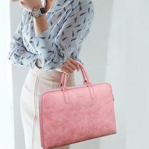 Túi đựng Laptop thời trang nữ JQMEI - TX-JQ034 (Màu hồng phấn)