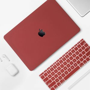 Combo ốp & phủ phím Macbook (Đỏ đô) - Kingbason.com