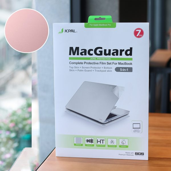 Dán Bảo Vệ MacBook JCPal MacGuard 5 in 1 (Màu RoseGold)