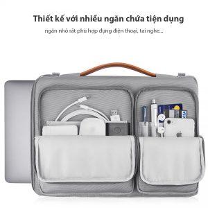Thiết kế ngăn đựng Laptop và ngăn chứa phụ kiện tối ưu, tiện dụng