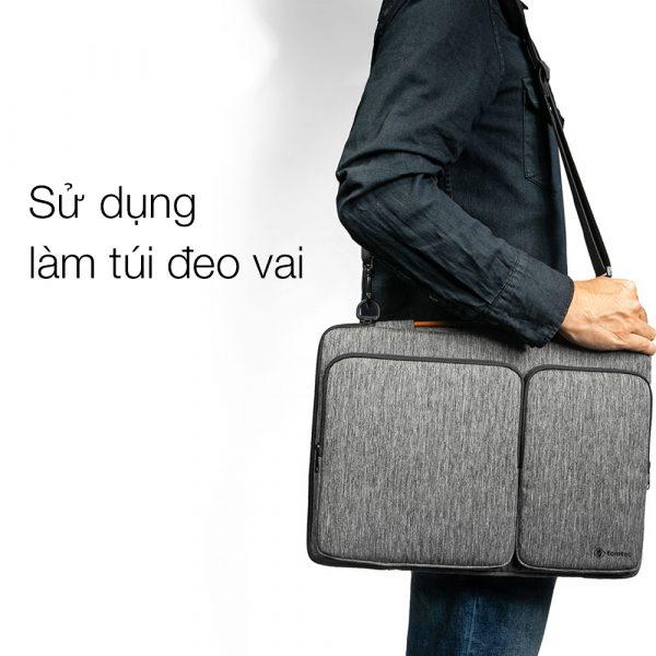 Sử dụng Tomtoc A42 Gray thành túi đeo