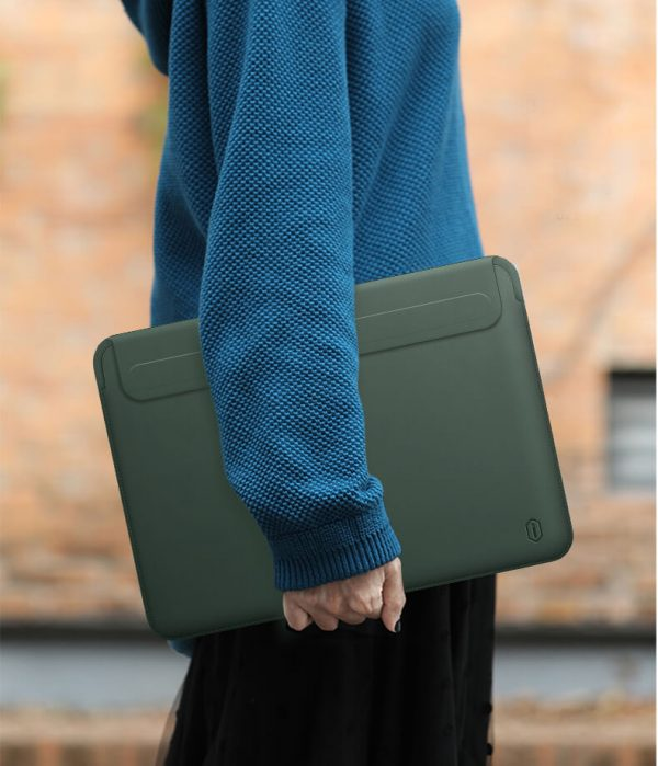 "Bao da Wiwu Skin Pro II - Green for Macbook, Surface 13 - 15"""