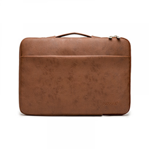 Túi chống sốc Laptop 13 - 15.6 inch - KinMac da nâu