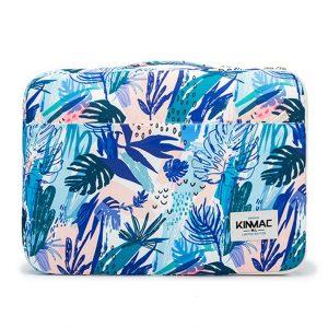 Túi chống sốc Laptop 13 - 15 inch Kinmac họa tiết lá xanh