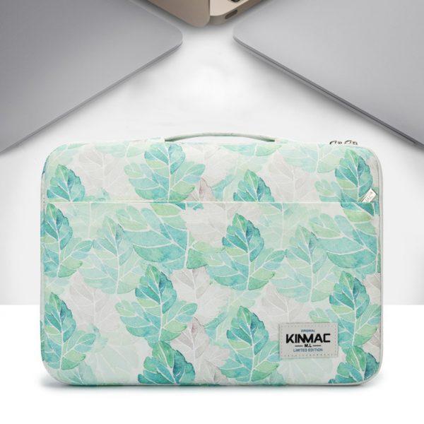 tui chong soc laptop nu 13 15 inch kinmac xanh la km037
