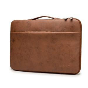 Túi xách chống sốc Laptop 13 - 15.6 inch Kinmac da nâu